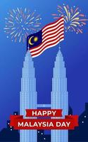 Malaysia independence day poster banner vector