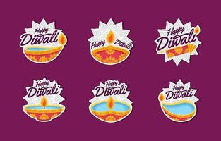 Happy Diwali Festival Sticker vector