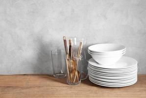 Kitchen utensils in restaurant with a blank space for a text photo