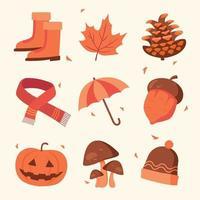 Autumn Elements Icon Set vector