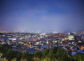 centro de la ciudad de seúl en corea del sur foto