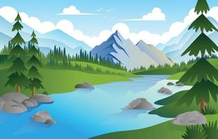 Nature Mountain Scenery Background vector