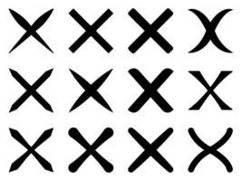 Delete icon set - vector illustration .