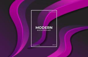 Minimalist Elegant background with fluid shapes in purple black color vector