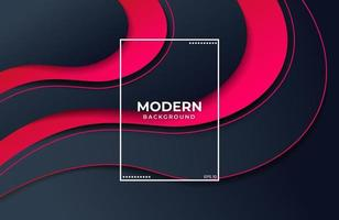 Elegant background with fluid shapes in black red color vector