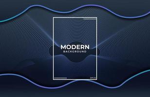 Elegant background with fluid shapes and blue color vector