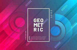 Abstract geometric background with modern gradient color vector