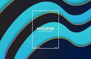 Minimalist Elegant background with fluid shapes in blue black color vector