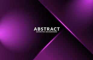 Dark purple Realistic abstract Geometric background vector