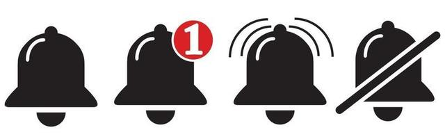 Notification bell icon. Alarm symbol. Incoming inbox message. vector
