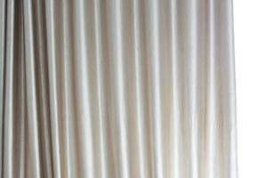 White curtains in light photo
