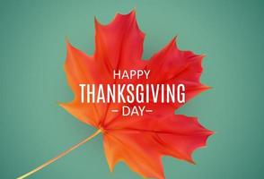 Happy Thanksgiving Day Background with Shiny Autumn Natural Leaves. vector