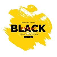 Plantilla de banner de venta de viernes negro. ilustración vectorial vector