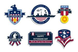 Army Veterans Day Sticker collection vector