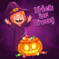 Trick or Treat Concept vector