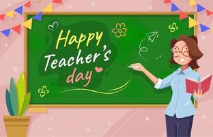 Happy Teacher's Day Background vector