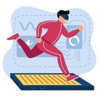 Virtual Run Workout vector