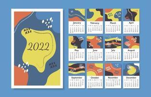Modern Abstract 2022 Calendar vector