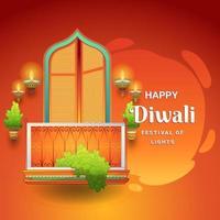 Diwali Festival of Lights Background vector