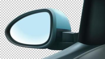Mockup mirror left driver's. With white space to insert an image. vector
