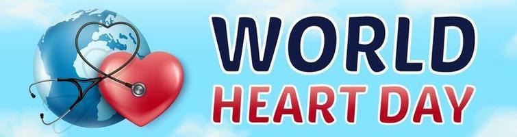 Banner World Heart Day 29 September vector