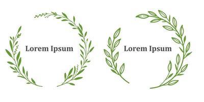 Floral Frame Logo vector