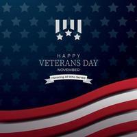 fondo del día de los veteranos vector