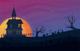 fondo de paisaje de halloween vector