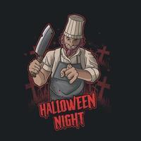 halloween butcher killer illustration vector