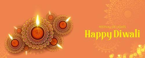 Happy Diwali Holiday background for light festival of India vector