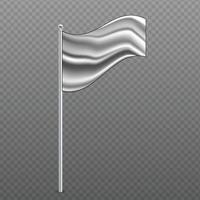 British Antarctic Ocean Territory waving flag on metal pole. vector