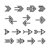Archery arrow symbol line vector design
