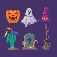 Halloween Activity Trick or Treat Icon Sticker vector