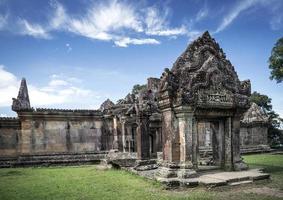 Preah Vihear famous ancient temple ruins landmark in north Cambodia photo
