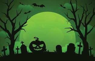 fondo de halloween verde neón vector