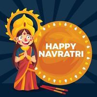 Happy Navratri Day vector