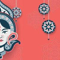 Durga Puja Background vector
