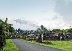 Besakih temple complex famous landmark attraction in Bali Indonesia photo