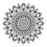 islamic mandala of meditation relaxation arabian floral pattern vector
