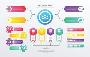 Colorfull Infographic Elements Set vector