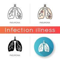 Pneumonia vector icon