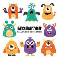 Cutesy Chubby Spotted Cartoon Halloween Monster vector