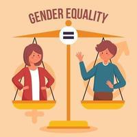 mismos derechos y obligaciones para mujeres y hombres vector