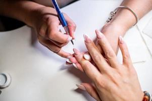 Nail decorations with special UV gel photo