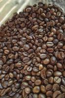 Natural pure and rich dry coffee beans photo