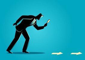 pista de negocios y concepto de búsqueda vector