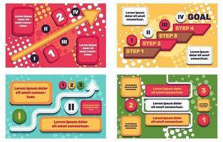 Proggress Infographic Elements vector