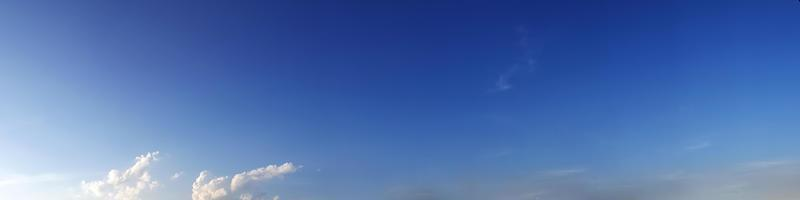 Vibrant color panoramic sky with cloud on a sunny day. photo
