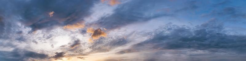 Panorama of Dramatic vibrant color with beautiful cloud photo