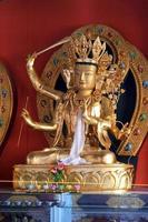 Golden Buddhist statue photo